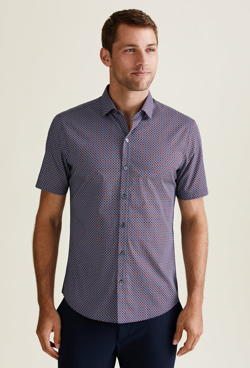 men's cotton lycra shirt casual short sleeve