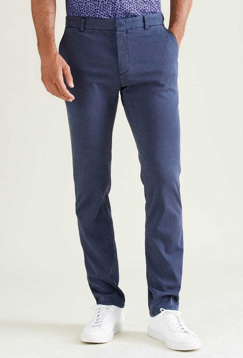 dark blue chino pants for men
