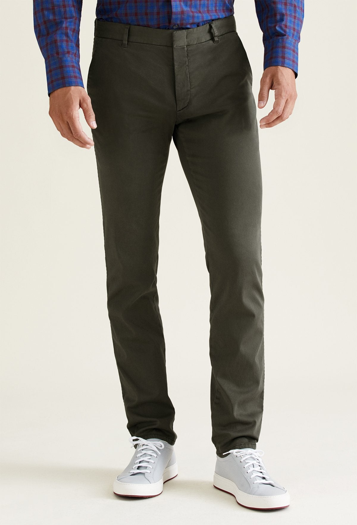 dark olive chino pants for men