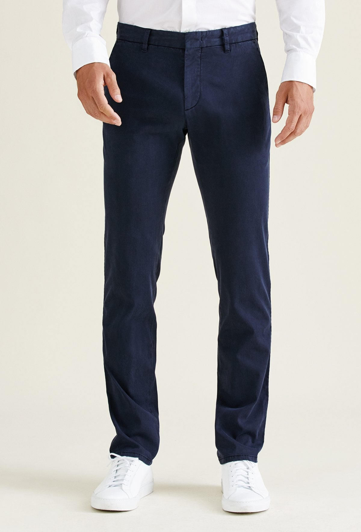 men's navy blue chino pants