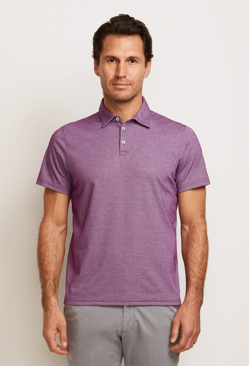 men's purple cotton polo shirt from peruvian pima cotton and polyester