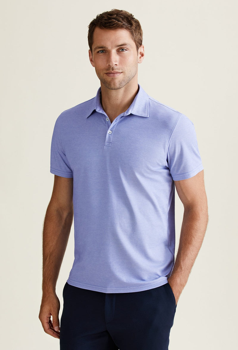 men's short sleeve cotton polo shirt