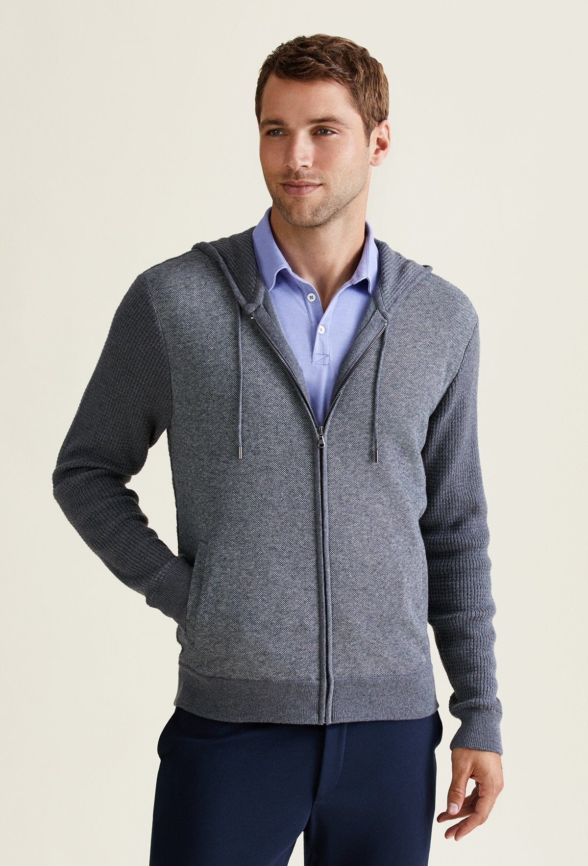 men's ultra super soft hoodie full zip
