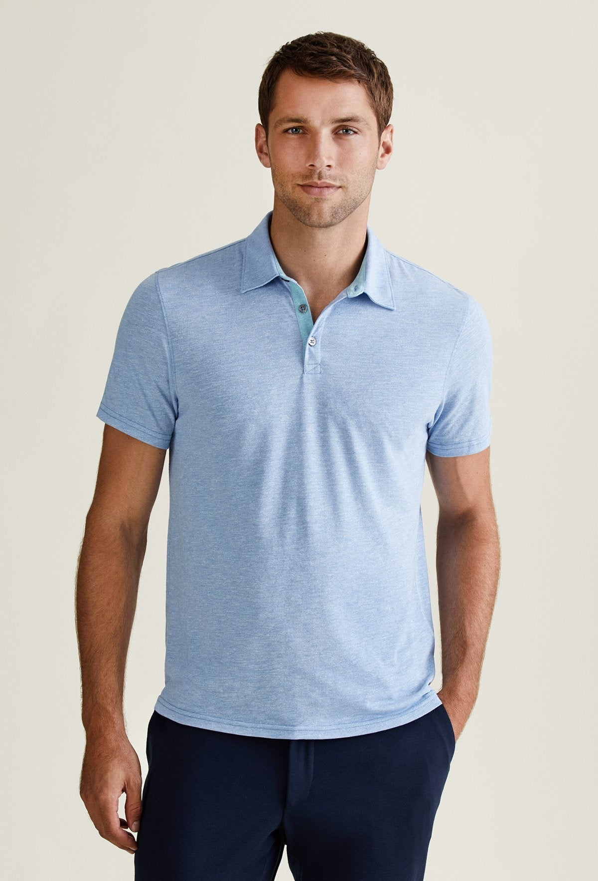 stylish men's polo shirts light blue fashion designer
