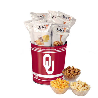 University of Oklahoma Popcorn Tin