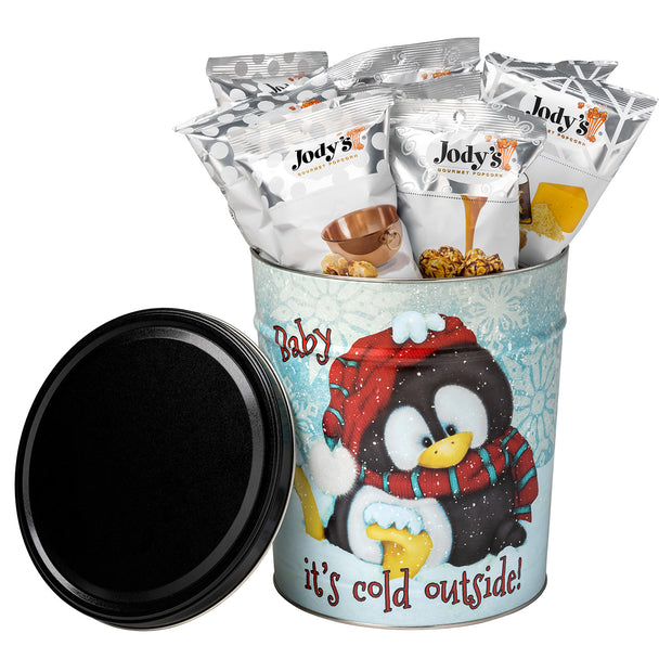 Baby Its Cold 3 Gallon Popcorn Tin