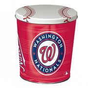 Washington Nationals Popcorn Tin | Three Gallon Gift Tin with 6 Bags - Jody's Popcorn - 3