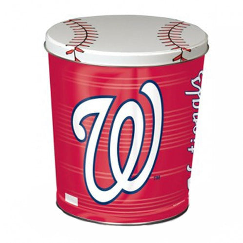 Washington Nationals Popcorn Tin | Three Gallon Gift Tin with 6 Bags - Jody's Popcorn - 2