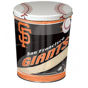 San Francisco Giants Popcorn Tin | Three Gallon Gift Tin with 6 Bags - Jody's Popcorn - 2