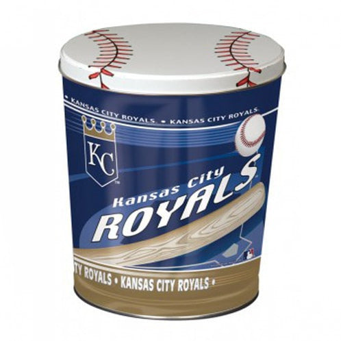 Kansas City Royals Popcorn Tin | Three Gallon Gift Tin with 6 Bags - Jody's Popcorn - 3