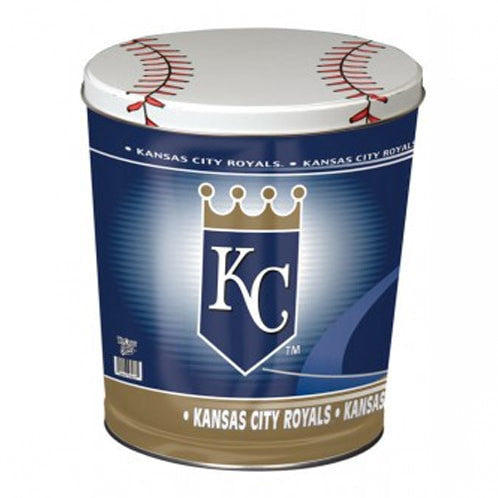 Kansas City Royals Popcorn Tin | Three Gallon Gift Tin with 6 Bags - Jody's Popcorn - 2
