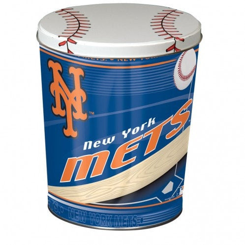 New York Mets Popcorn Tin | Three Gallon Gift Tin with 6 Bags - Jody's Popcorn - 2