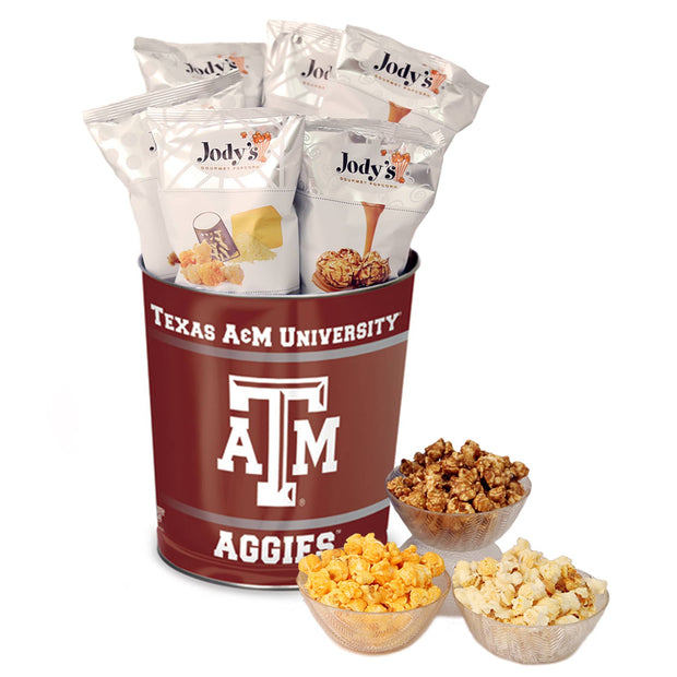 Texas A&M Popcorn Tin