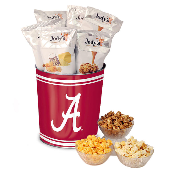 University of Alabama Popcorn Tin | Three Gallon Gift Tin with 8 Flavors