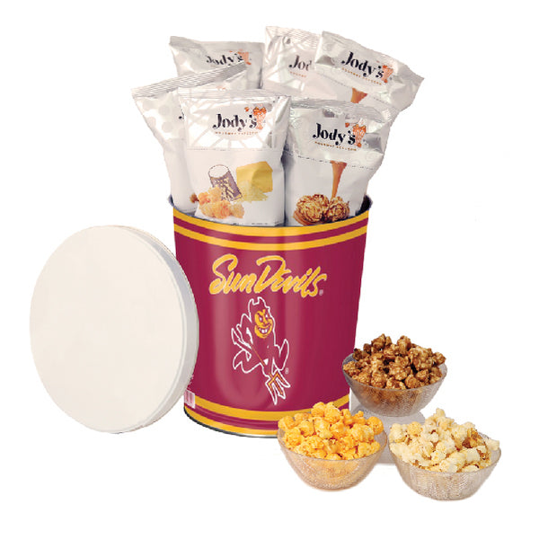 Arizona State Sun Devils Popcorn Tin | Three Gallon Gift Tin with 8 Flavors