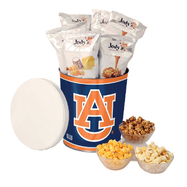 Auburn University Tigers Popcorn Tin | Three Gallon Gift Tin with 8 Flavors