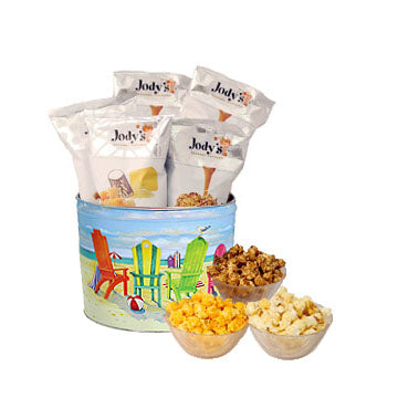 Jody's Beach 2 Gallon Popcorn Tin