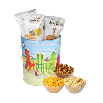 Jody's Beach 1 Gallon Popcorn Tin