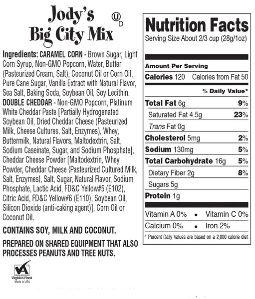 Big City Mix Popcorn Party Tub | 20 Cups