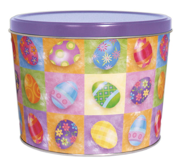Easter Egg Tin | Two Gallon with 4 Flavors - Jody's Popcorn