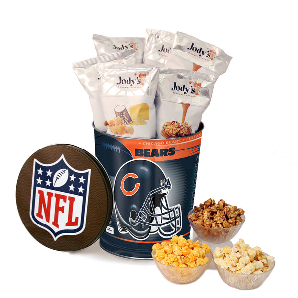 Chicago Bears Popcorn Tin | Three Gallon Gift Tin with 8 Flavors