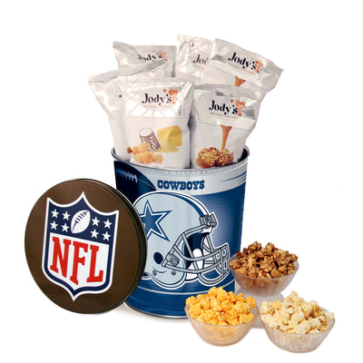 Dallas Cowboys Popcorn Tin
