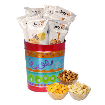Fiesta Celebrate Popcorn Tin | Three Gallon Gift Tin with 8 Flavors