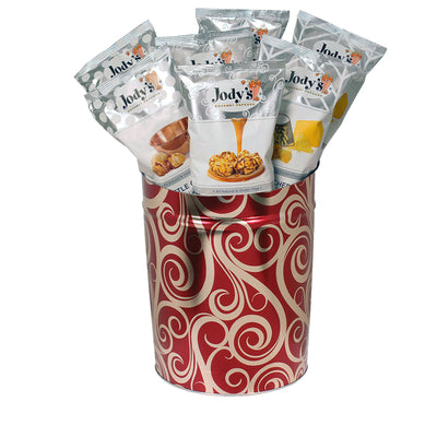 Golden Swirls 3 Gallon Popcorn Tin