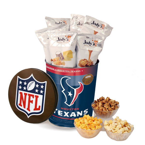 Houston Texans Popcorn Tin | Three Gallon Gift Tin with 8 Flavors