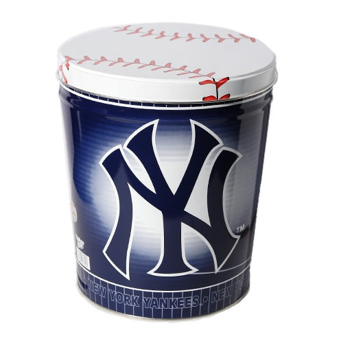 New York Yankees Popcorn Tin | Three Gallon Gift Tin with 6 Bags - Jody's Popcorn - 2