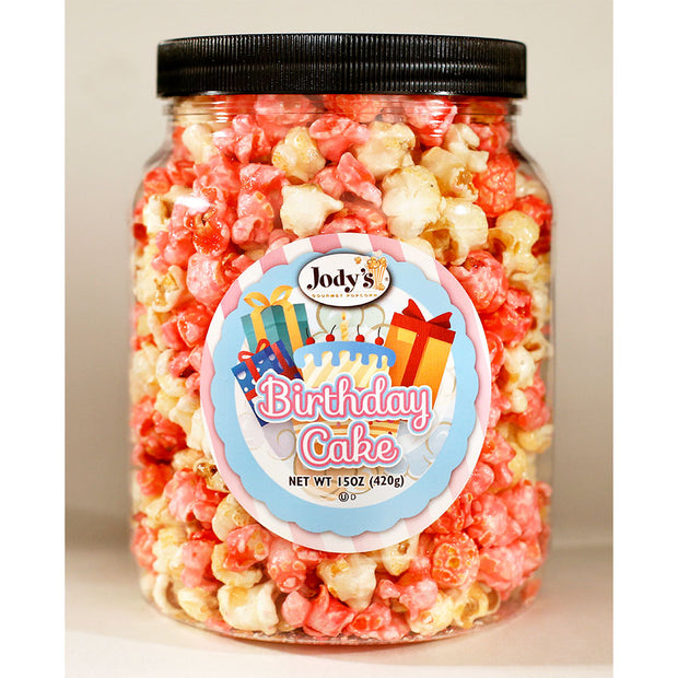 Birthday Cake Popcorn Jars