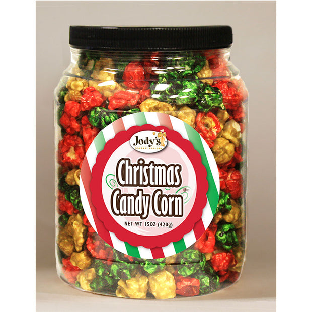 Christmas Candy Corn Popcorn Jars