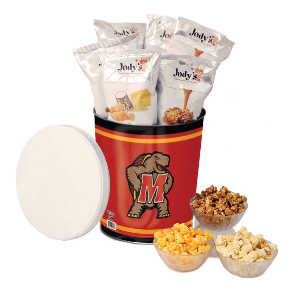 Maryland Terrapins Popcorn Tin | Three Gallon Gift Tin with 8 Flavors