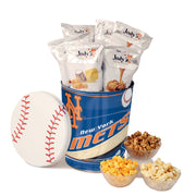 New York Mets Popcorn Tin | Three Gallon Gift Tin with 6 Bags - Jody's Popcorn - 1