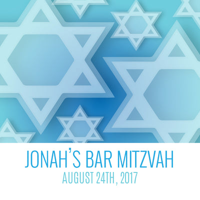 Bar Mitzvah Light Blue Label