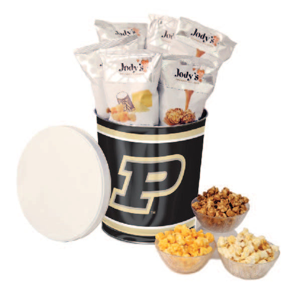 Purdue Boilermakers Popcorn Tin | Three Gallon Gift Tin with 8 Flavors