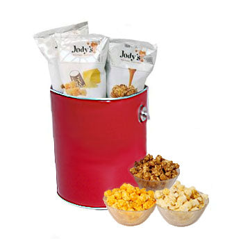 Red 1 Gallon Popcorn Tin
