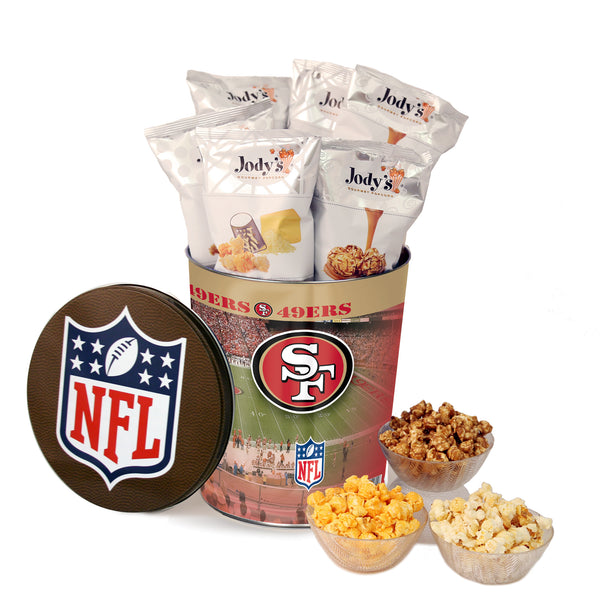 San Francisco 49ers Popcorn Tin | Three Gallon Gift Tin with 8 Flavors