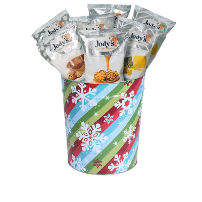 Sparkles and Snow Popcorn Tin