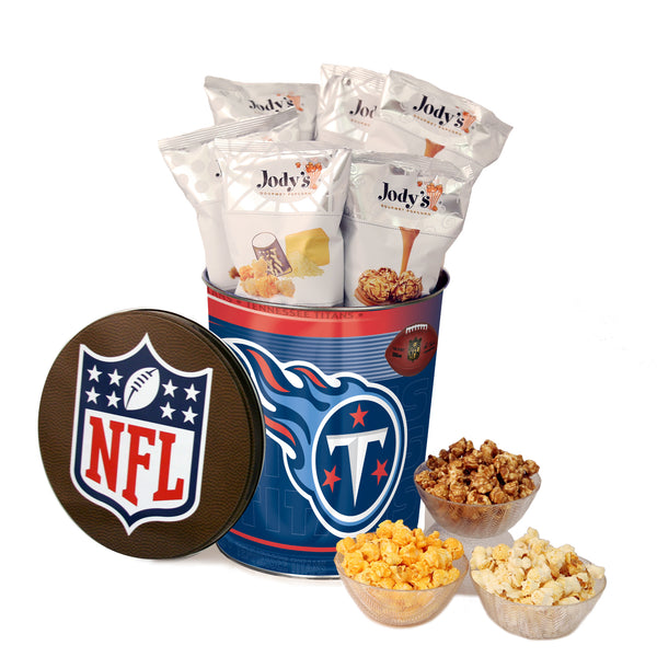 Tennessee Titans Popcorn Tin | Three Gallon Gift Tin with 8 Flavors