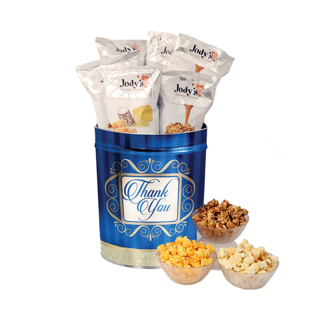 Golden Thank You 3 Gallon Popcorn Tin