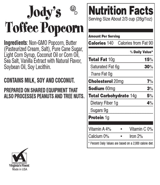 Toffee Popcorn Party Tub | 20 Cups