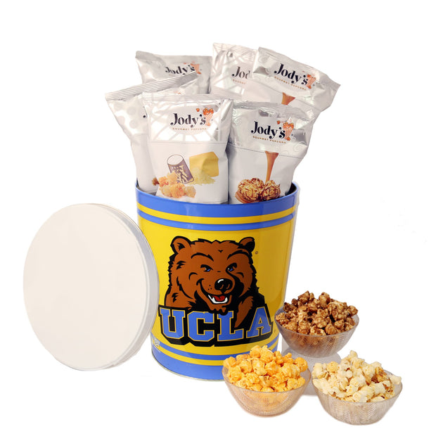 UCLA Bruins Popcorn Tin | Three Gallon Gift Tin with Six Flavors - Jody's Popcorn
