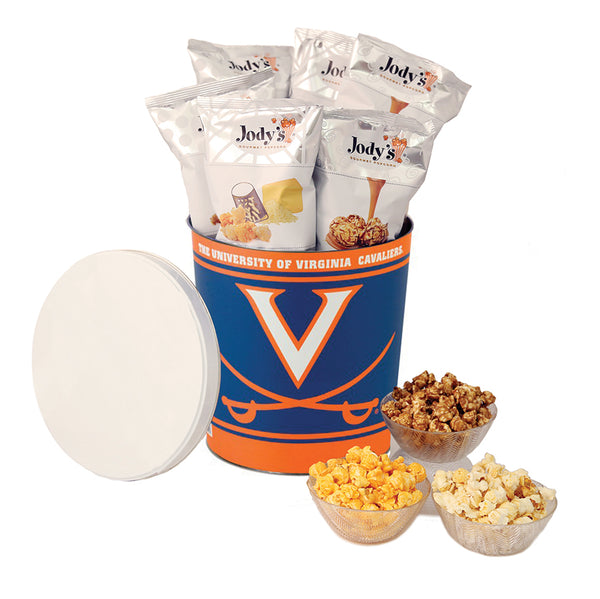 University Virginia Popcorn Tin | Three Gallon Gift Tin with 8 Flavors