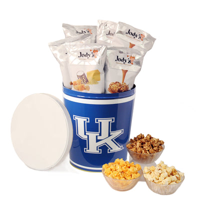 University of Kentucky Wildcats Popcorn Tin | Three Gallon Gift Tin with Six Flavors - Jody's Popcorn