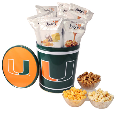 University of Miami Popcorn Tin