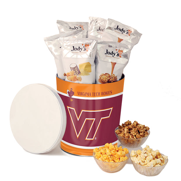 Virginia Tech Popcorn Tin