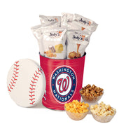 Washington Nationals Popcorn Tin | Three Gallon Gift Tin with 6 Bags - Jody's Popcorn - 1