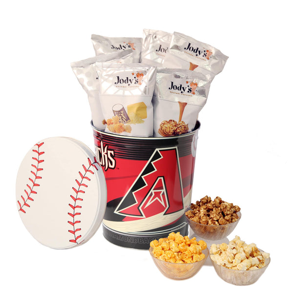 Arizona Diamondbacks Popcorn Tin | Three Gallon Gift Tin with 8 Bags