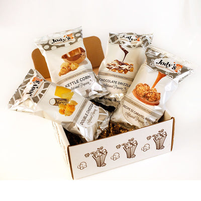 Jody's Best Sellers with Chocolate Drizzle Popcorn Gift Box